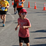 Several kids ran with their parents at the BTN Big10K