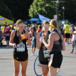 Every runner got a free beer upon crossing the finish line