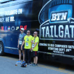 The BTN Tailgate bus was a popular photo spot at Saturday's race