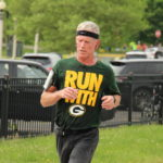 One Green Bay Packers fan represented his team in spite of the course taking place at the Chicago Bear's home field.