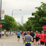 The city skyline was a great view for both runners and spectators.