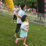 There were a lot of families and children who enjoyed to colorful race.