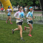 Paint-covered runners finish strong at the Chicago Color Run Sunday.