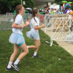 Several participants wore white tutu's during the race.