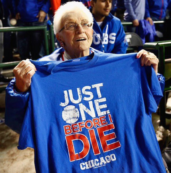 The famous 90-year-old Cubs fan Dorothy Farrell